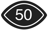 Visual Content rated 50 symbol